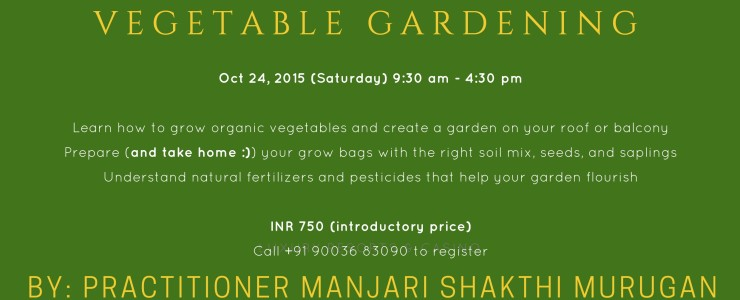 Master Class on Organic Vegetable Gardening